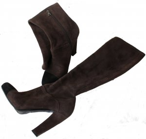Prada Stretch Boots brown suede