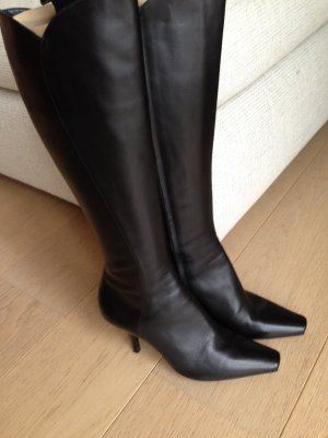 Prada Heel Boots brown leather