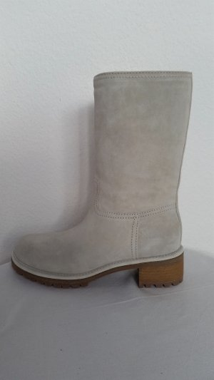 Prada Botas de invierno gris claro Gamuza