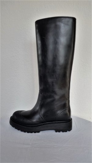 Prada Winter Boots black leather