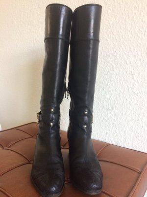 PRADA Stiefel Gr.38,5 schwarz Leder