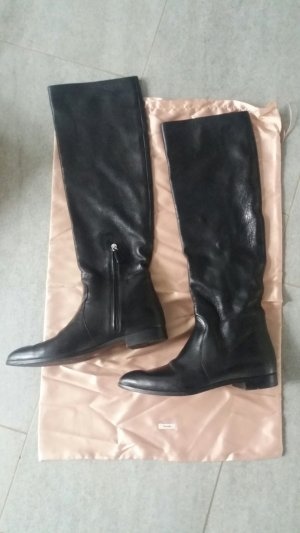 Prada High Boots black leather