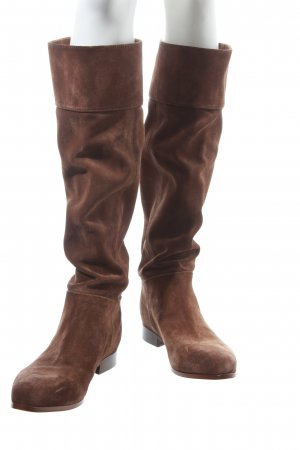 Prada High Boots light brown-gold-colored classic style