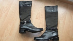 Prada Botas de equitación negro Cuero