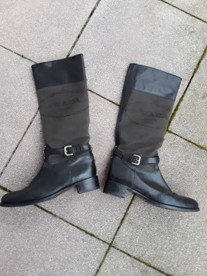 Prada Riding Boots black leather