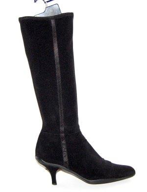 Prada Laarzen met hak zwart Gemengd weefsel