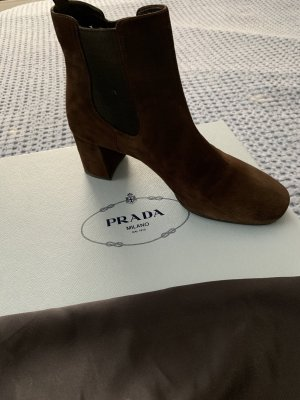 Prada Stivaletto slip-on marrone scuro Pelle