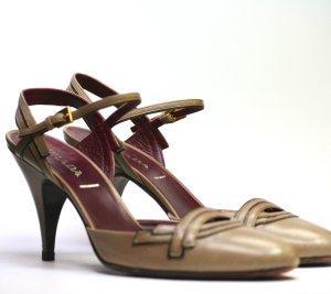 PRADA Stilettos taupe/bordeaux 40,5