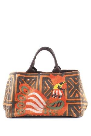 Prada Canvas Bag ethnic pattern Aztec print
