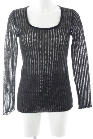 Prada Gebreide trui zwart klassieke stijl