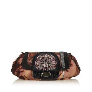 Prada Bolso de mano marrón Nailon