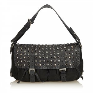 Prada Studded Nylon Handbag