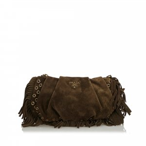 Prada Suede Clutch Bag
