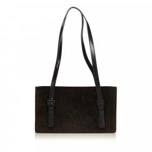 Prada Shoulder Bag black suede