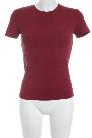 Prada T-Shirt dunkelrot schlichter Stil