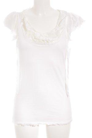 Prada T-Shirt weiß-creme schlichter Stil