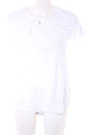 Prada T-Shirt weiß Romantik-Look