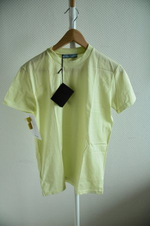 Prada T-Shirt lime yellow cotton