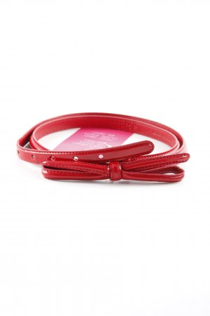 Prada Waist Belt dark red leather-look