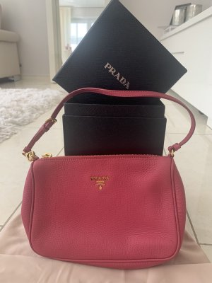 Prada Handbag raspberry-red leather