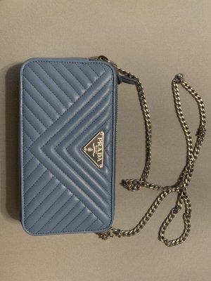 Prada Crossbody bag cornflower blue leather