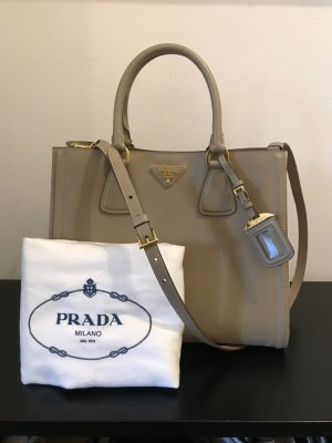 Prada Handbag grey brown-white
