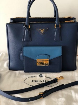 Prada Handbag dark blue-blue