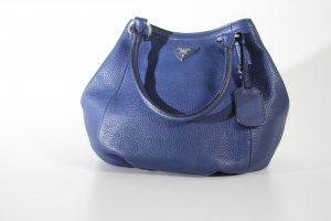 Prada Pouch Bag blue leather