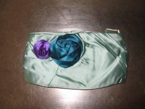 Prada Tasche Abendtasche Seide Clutch Türkis Mint Violett Neuwertig