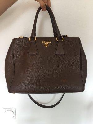 Prada Tasche Bag braun daino bruciato ledertasche gold designer