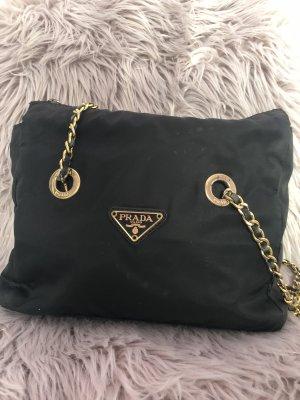 Prada Gekruiste tas zwart-goud