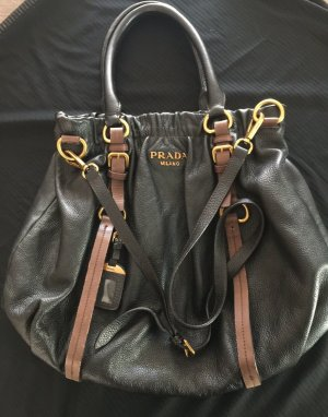 Prada Pouch Bag black-brown leather