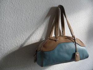 Prada Tasche Blau / Braun Leder Luxus Pur !