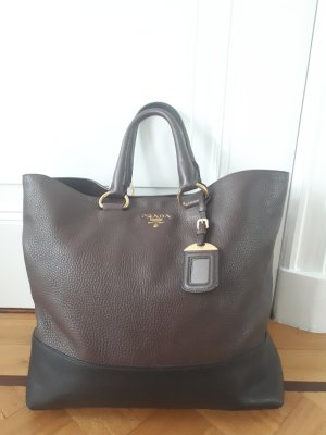Prada Borsetta nero-marrone scuro