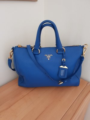 Prada Handbag gold-colored-neon blue