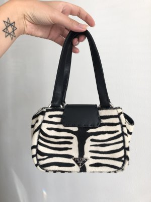 Prada Handbag black-white