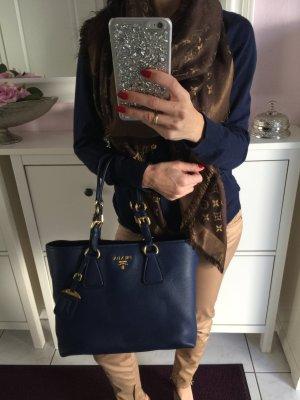 Prada Tasche navyblau blau Handtasche Shopper XL groß
