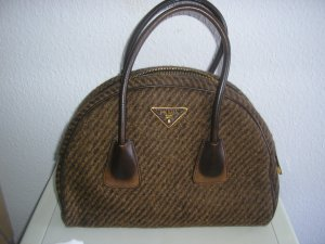 Prada Bowling Bag brown leather