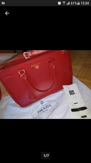 Prada Tasche rot saffiano Lux Bag Rechnung