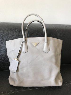 Prada Tasche Shopper Beige: Borsa A Mano Saffiano Lux Bluette
