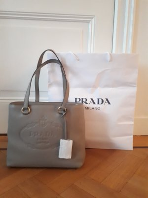 Prada Tasche Shopper grau neuwertig