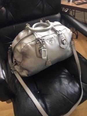 Prada Handbag light grey-silver-colored