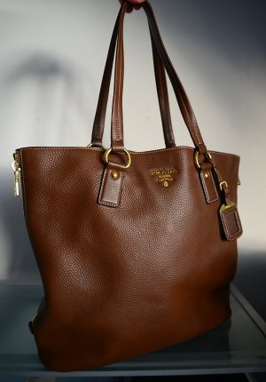 Prada Borsa shopper marrone Pelle