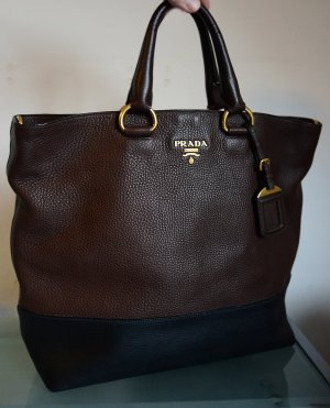 Prada Shopper black-dark brown
