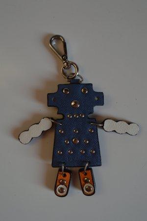 Prada Porte-clés bleu-orange fluo cuir