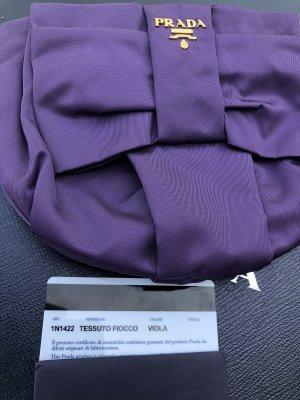 Prada Sac de soirée violet foncé nylon