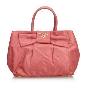 Prada Tessuto Nylon Bow Handbag