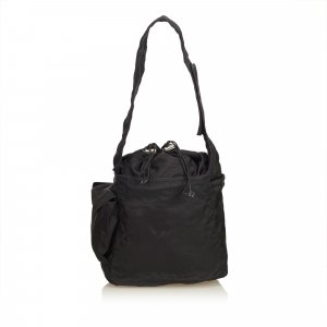 Prada Tessuto Nylon Drawstring Shoulder Bag