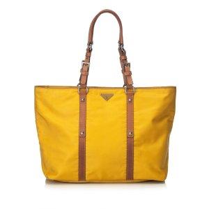 Prada Tote yellow nylon