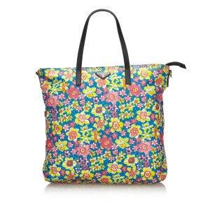 Prada Tessuto Stampato Nylon Tote Bag